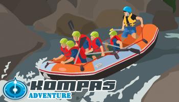cara mendayung perahu rafting