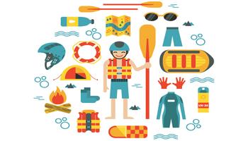 perlengkapan rafting atau arung jeram