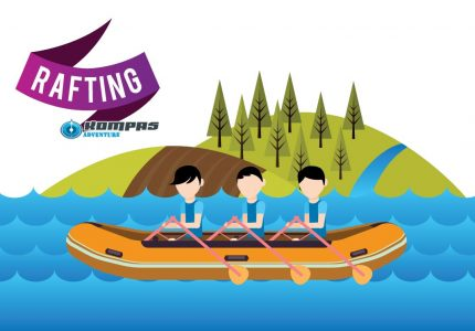 rafting arung jeram kompas adventure